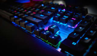 Mechanical keyboard with multi-colored lighting