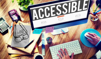 The word accessible on a computer screen