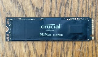 A photograph of the Crucial P5 Plus