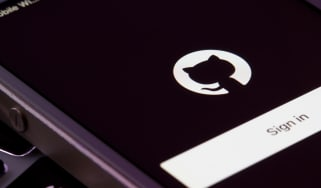 The GitHub sign in screen on a smartphone