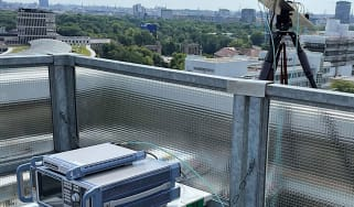 LG 6G equipment on a rooftop in Berlin