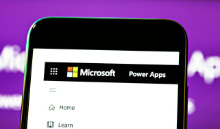 The Microsoft Power Apps service on a smartphone