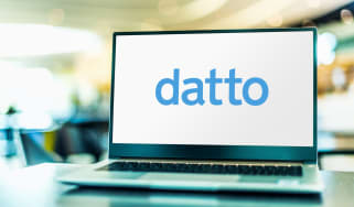 Datto logo on a laptop display