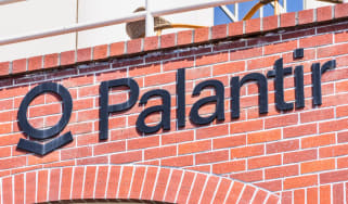 Sign outside the US headquarters of Palantir