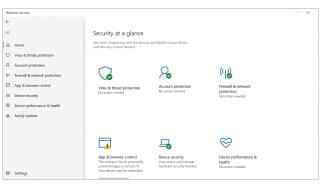 A screenshot of the Windows Security dashboard