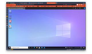 A screenshot of Windows 365 running in a browser window