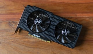 A photograph of the Palit RTX 3060 Dual on a table