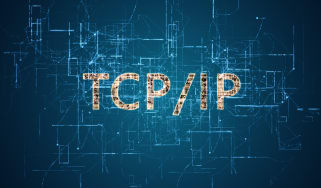 TCP/IP on a blue background