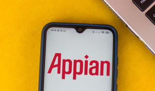 The Appian logo on a smartphone