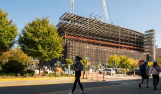 Construction work on St John's Terminal