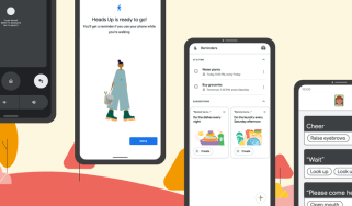 Cartoon examples of the new features on Android phones