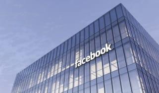 Facebook's Menlo Park headquarters from below