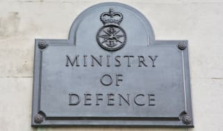 Ministry of Defence sign in London