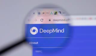 DeepMind's website under a magnifying glass