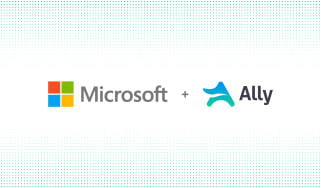 A mocked up image of Microsoft and Ally logos
