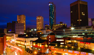 Birmingham City's skyline at night