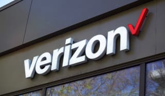 Verizon sign on the side of a building