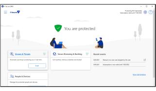 A screenshot of F-Secure Safe's main dashboard
