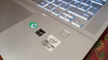 The fingerprint scanner of the HP Pro c640 Chromebook