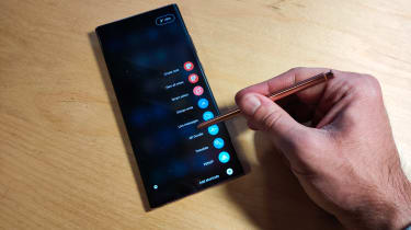 The Samsung Galaxy Note 20 Ultra 5G S Pen in action