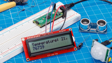 The Raspberry Pi Pico being used as a temperature sensor
