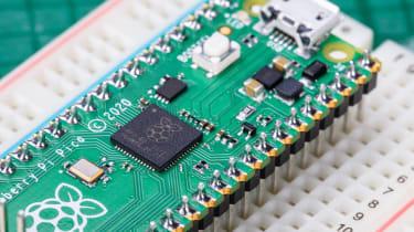 The Raspberry Pi Pico soldered down
