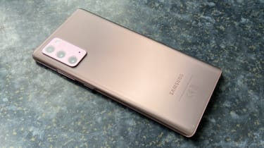 The rear of the Samsung Note 20