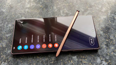 The Samsung Note 20 with its stylus pen
