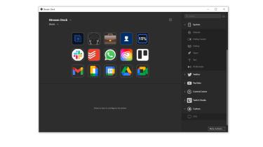 Control software interface for Elgato's Stream Deck