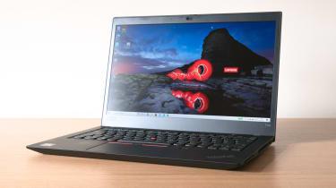 Lenovo ThinkPad T14s (AMD Ryzen) angle view