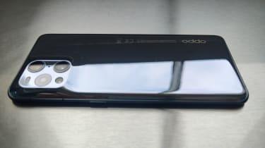 Oppo Find X3 Pro rear side view