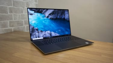 The Dell XPS 17 open on a table