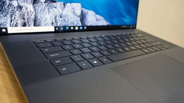 A closeup of the Dell XPS 17's keyboard