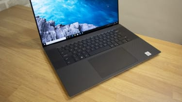 A photograph of the Dell XPS 17's keyboard