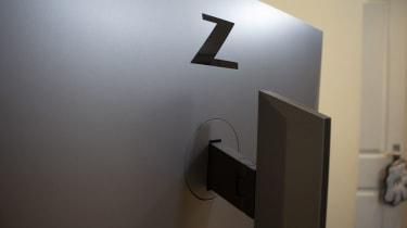 The rear logo of the HP Z27u G3
