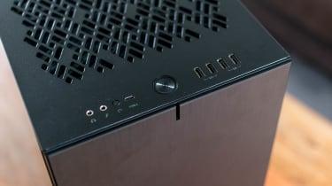 The top edge of the Chillblast Fusion Threadripper Pro RTX 3975WX Workstation