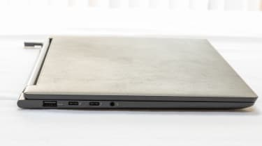 Left-hand view of the Lenovo Yoga 9i 14in (Shadow Black)