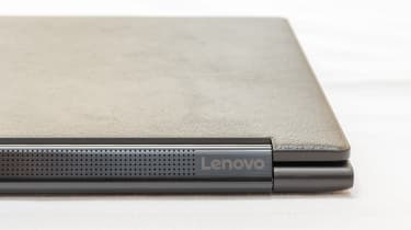 Closeup of the speakers of the Lenovo Yoga 9i 14in (Shadow Black)