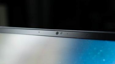 A closeup of the MSI Prestige 14 Evo's webcam