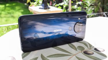 The Nokia 5.4 on its side