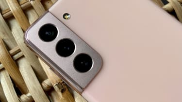A photograph of the Samsung Galaxy S21 5G's camera array