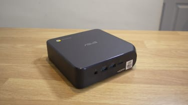 A photograph of the top of the Asus Chromebox 4