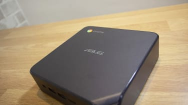 A photograph of the Asus Chromebox 4 showing the Asus logo