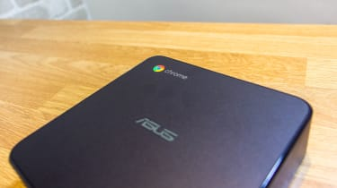 A photograph of the Asus Chromebox 4 showing the Chrome logo