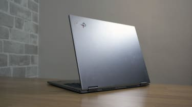 A photograph of the Lenovo ThinkPad X1 Titanium Yoga's lid