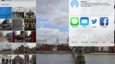 The Dropbox interface on an iPad