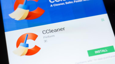 The Ccleaner app as seen on a smartphone