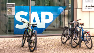 Bicycles outside the SAP offices