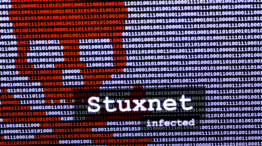 A warning of a Student infection in front of a binary background
