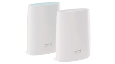 Netgear Orbi RBK50 against white background